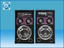 8 inch USB/SD/FM radio active speaker with mixer