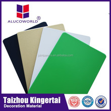 Size Alucoworld excellent snti-septic pvdf coating acm latest design 1220*2440mm aluminum composite board wall cladding