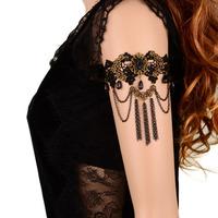 Unique sex girl lace arm women female fashion gold thin chains necklaces