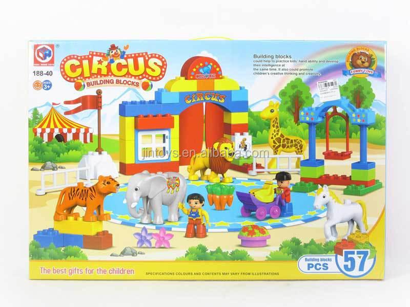 los nios juguetes de plstico de los animales de circo espectculo bloque unids