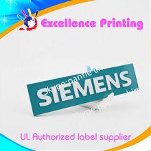el logo metálico, personalizado y auto adhesivo, etiqueta metálica