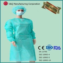 CE ISO FDA approved medical use surgical / disposable gown with ties