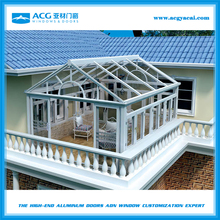 Prefabricated aluminum glass house with various choice and good performance