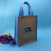 Alibaba china Shenzhen sell jute bags on line , fancy cheap jute tote bags wholesale