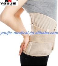 33 cm elastic lumbar support back spine brace with metal splints