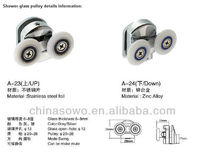 bathroom door Stainless steel pulley of model A-23,A-24
