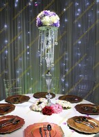 Acrylic Beaded Table Top Chandelier Centerpieces Flower stand Wedding Party Decorations
