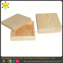 unfinished wooden box/wholesale antique carved wooden tea box/wooden decorationroud box