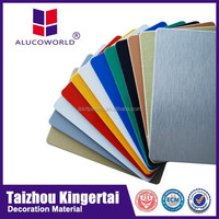 Alucoworld China supplier excellen light weight concrete wall panel gold pe coating pvdf aluminium composite