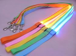 8 Color options, Bright LED nylon dog leash light up flashing safety pet cat