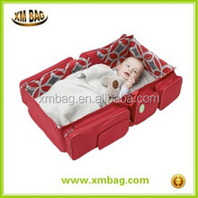 2015 New Hot sell outdoor portable baby cot bag, travel carry foldable baby cribs