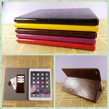 Top grade flip leather case for ipad 2/3/4 pu leather printing case for ipad air wholesale