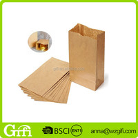 Brown Kraft Paper Bags Recyclable Gift Food Bread Candy Packaging Shopping Party Bags For Boutique