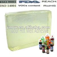 JAOUR Rubber Hot Melt Glue for PET Bottle Label