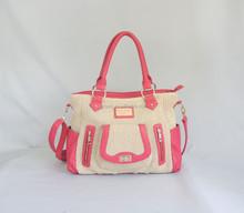 Rose Red Leisure Straw handbag shoulder bag latest women's bag