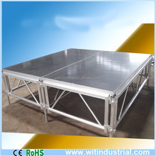 4ft x8ft(1.22x2.44m) aluminum frame plywood stage for sale