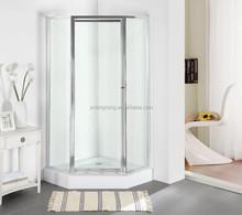 FOCA 93FC shower room with brushed nickel finih frame