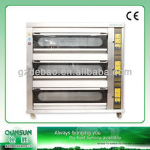 QS-R309 3 Deck 9 Trays Deluxe Gas Baking Oven