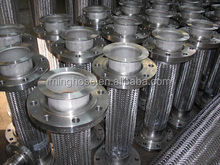 Corrugated/stainless steel metal hose with welded NPT male niple