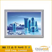 aluminium sign system led edge lit light box for ad/decotation/shopping mall
