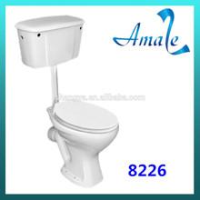 2014 caliente venta dos- pieza de cerámica wc inodoro de agua/closet precio