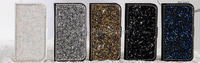 2015 New Products Crystal Diamond Leather case for iphone 6