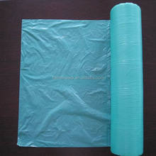 Good price HDPE green color flat bag on roll