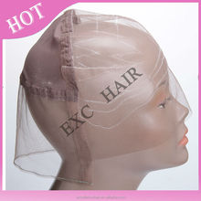 2015 hot fashion soft and breathable silk swiss lace full lace wig cap for women