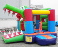 Hot selling crocodile inflatable bouncer house M1108