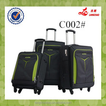 Hot Sale Fabric Spinner Own Brand China Factory Cheap Price Aluminum Travel Suitcase