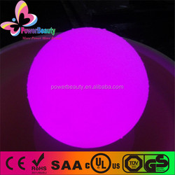 fancy illuminated rgb led color changing plastic water pool ball lighting