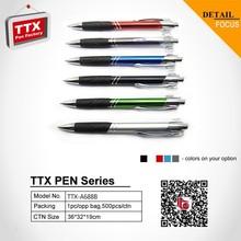Plastic pen with stylus,plastic waterproof marker pen,simple white plastic pen