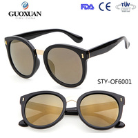 YWGX FDA CE UV400 Certification Flower Ornament big pc frame and metal bridge round shaped sunglasses