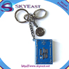 Colorful Coated Tag with Rhinestone and Metal Hook with Keyring