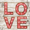 Lastest Love and hope canvas painting with led light cheap china factory wholesale