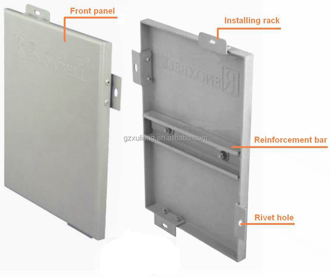 Aluminium Composite Panel Cladding Details : Solid aluminium panel aluminum wall cladding panels