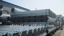 Top galvanizado Galvanizado Pre Pipe Pre galvanizado tubos <span class=keywords><strong>de</strong></span> acero redondo en Tianjin
