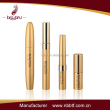 2015 best sell gold empty mascara tube, factory sell cosmetic set, unique design cosmetic packaging