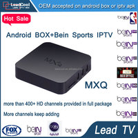 Mxq Android Tv Box Remote Control Amlogic S805 1G/8G XBMC Iptv Live Streaming With 1 Year Free Leadtv Receiver Iptv Morocco