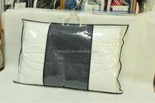 guangzhou factory custom printed vinyl zipper bag for pillow packaging