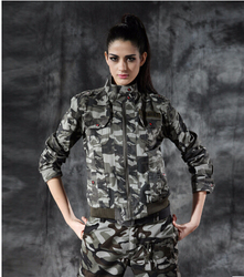 fashion design women clothing camo printed women's jacket