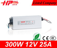 Reliable Guangzhou factory CE RoHs rainproof constant voltage single output 300w 25amp 12v best sell cctv camera power