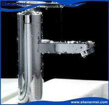 Deck Mounted Hot & Cold Basin Mixer Basin Faucet