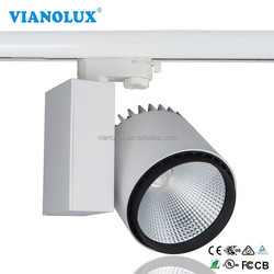 Aluminium&lens reflector glare-free 360 degree rotates 50W LED Track spotlight