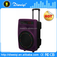 best 2015 Cheap trolley portable battery powered speaker with fm radio