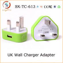 5v 1a Mini usb uk plug adapter for mobile phone