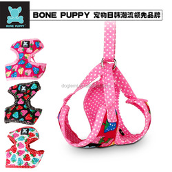 Soft Cotton Strawberry Design Pet Walking Leash Harness set Puppy Cat Harness Set