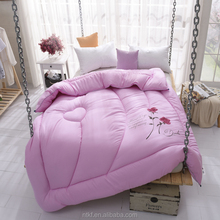 china textile embroidered fabric goose down duvet by embroidery machines korean blankets for children bed