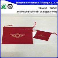 2015 fashion custom gift velvet bags,velvet pen bags/pouch