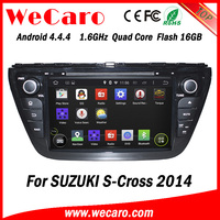 """Wecaro WC-SU8073 8"""" Android 4.4.4 WIFI 3G touch screen car navigation system for suzuki s- cross car dvd gps 2014"""